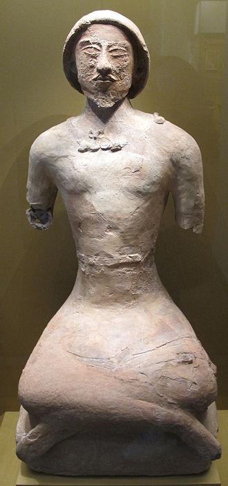 Koi Krylgan Kala - Statue of a man-ossuary from Koi Krylgan Kala, first centuries A.D., Hermitage Museum