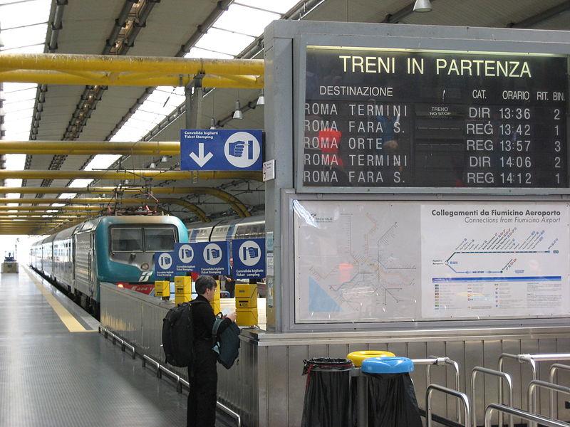 File:Stazione Fiumicino partenze.jpg - Wikimedia Commons