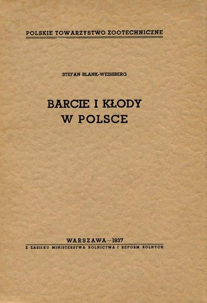 File:Stefan Blank-Weissberg - Barcie i kłody w Polsce.djvu