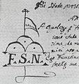 Stemma del notaio Faustino Salvi 1762.jpg