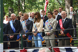 Carol Alt - Carol Alt (front center) as a Grand Marshal at the New York City Steuben Day Parade (2006)