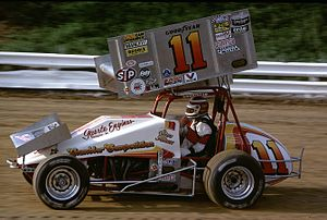 Steve Kinser - 1986 championship sprint car at Williams Grove