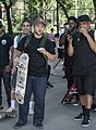 Steve Rodriguez and Jamie Foy during best trick contest 2019-06.jpg