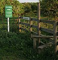 Stile and signs at Stapleford House - geograph.org.uk - 439581.jpg