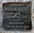 Stumbling block for Wilhelm Mayer (Pantaleonstraße 18)