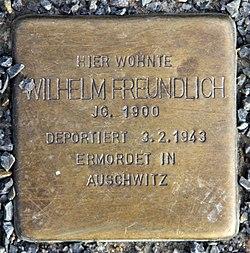 Photo of Wilhelm Freundlich brass plaque
