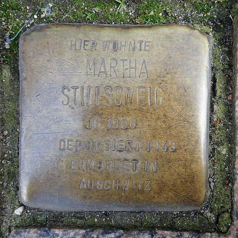 Stolperstein Heide Friedrichstraße 4 Martha Stillschweig