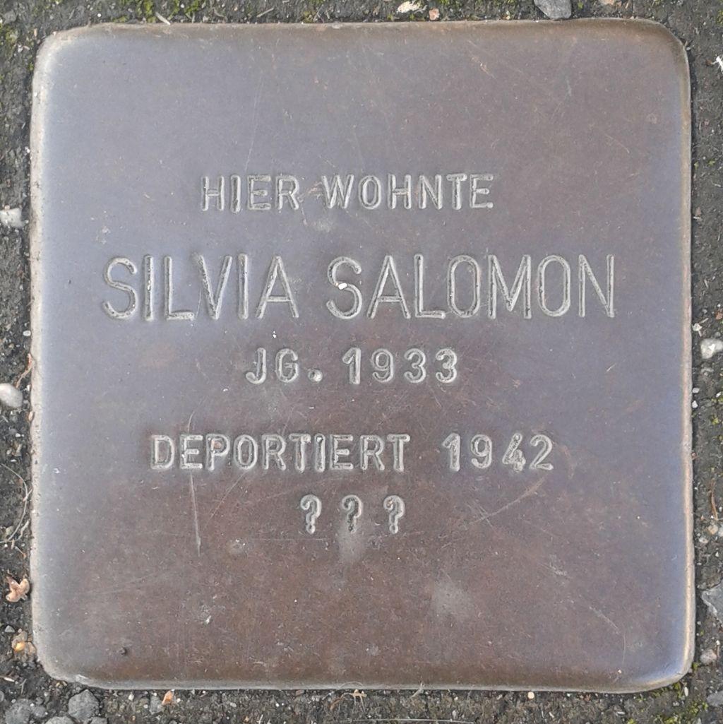 Stolperstein Herborn Austraße 12 Silvia Salomon