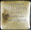 Stumbling block for Fritz Simons (Neumarkt 25)