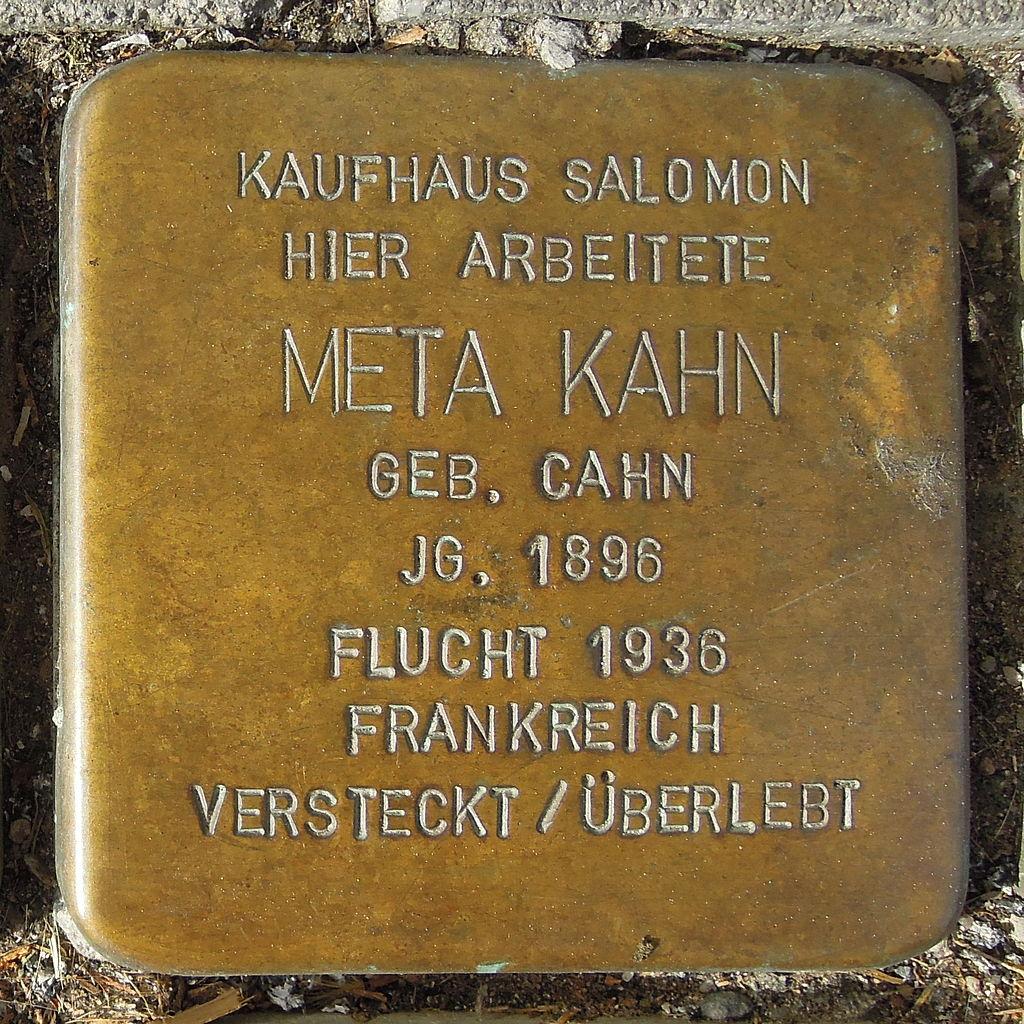 Stolperstein Saarburg Graf-Siegfried-Straße 39 Meta Kahn.JPG