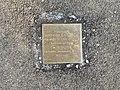 Stolperstein Umberto Chignoli 20 rue Raspail Fontenay Bois 2.jpg