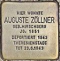 Stolperstein für Auguste Zöllner (Potsdam).jpg