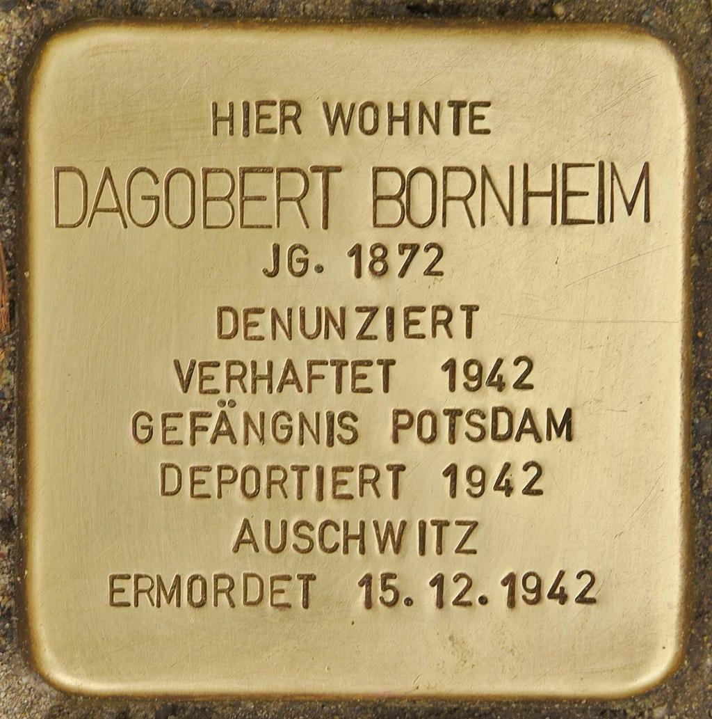 Stolperstein für Dagobert Bornheim (Bad Belzig).jpg