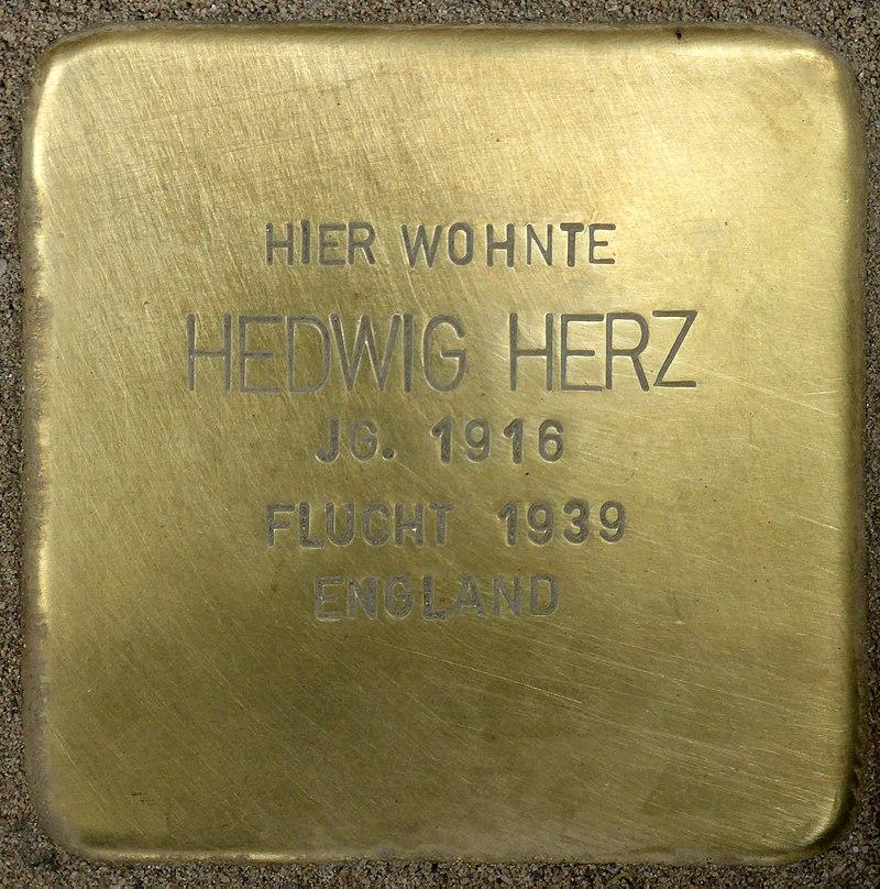 Stolperstein für Hedwig Herz (Bahnhofstraße 48)