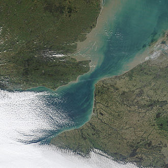 Strait of Dover - NASA Satellite image December 2002