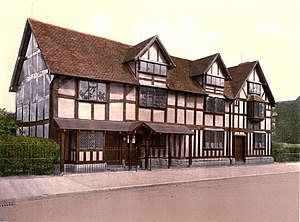 Shakespeare's Birthplace - Shakespeare's Birthplace (as seen between 1890 and 1905)
