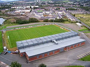 2014–15 Scottish Championship - Image: Strathclyde Homes Stadium Home Of Dumbarton FC geograph.org.uk 2586794