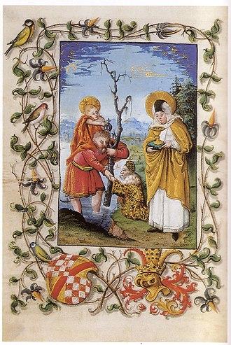 Odile of Alsace - Image: Stundenbuch christophorus