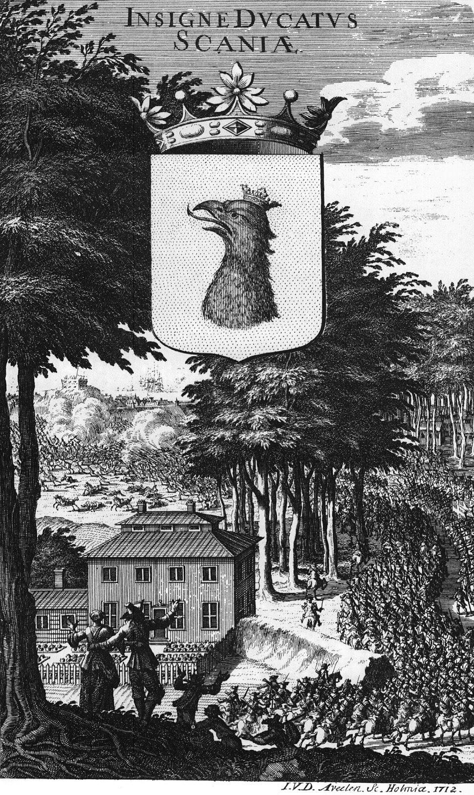 Suecia 3-103 ; Scaniae Insigne Ducatus 1712