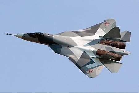 https://upload.wikimedia.org/wikipedia/commons/thumb/0/0a/Sukhoi_T-50_Beltyukov.jpg/450px-Sukhoi_T-50_Beltyukov.jpg