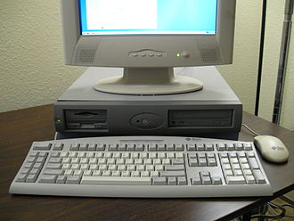 Sun Blade (workstation) - Sun Blade 100 workstation (desktop form factor), missing its front badge