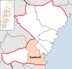 Sundsvall Municipality in Västernorrland County.png