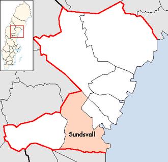 Sundsvall Municipality - Image: Sundsvall Municipality in Västernorrland County