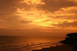 Varkala in Kerala. India.