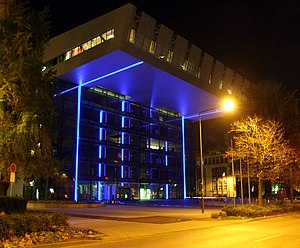RWTH Aachen University - SuperC, landmark of RWTH Aachen and the central service building for students