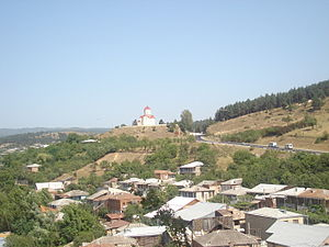 Surami - The north-western corner of Surami and the Kviratskhoveli Church