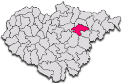 Location within Sălaj County