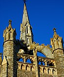 Sutton, Surrey, Greater London, Trinity Church crown and lantern spire.JPG