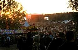 Letzter Abend des Sweden Rock Festival 2008.