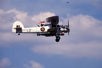 Merchant aircraft carrier - Fairey Swordfish at an airshow in 1988. This aircraft was assigned to 'L' Flight of 836 NAS on board the MAC ship Rapana during World War II