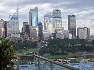 Economy of Australia - Sydney's central business district is Australia's largest financial and business services hub.