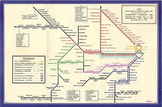 Railways in Sydney - 1939 network map
