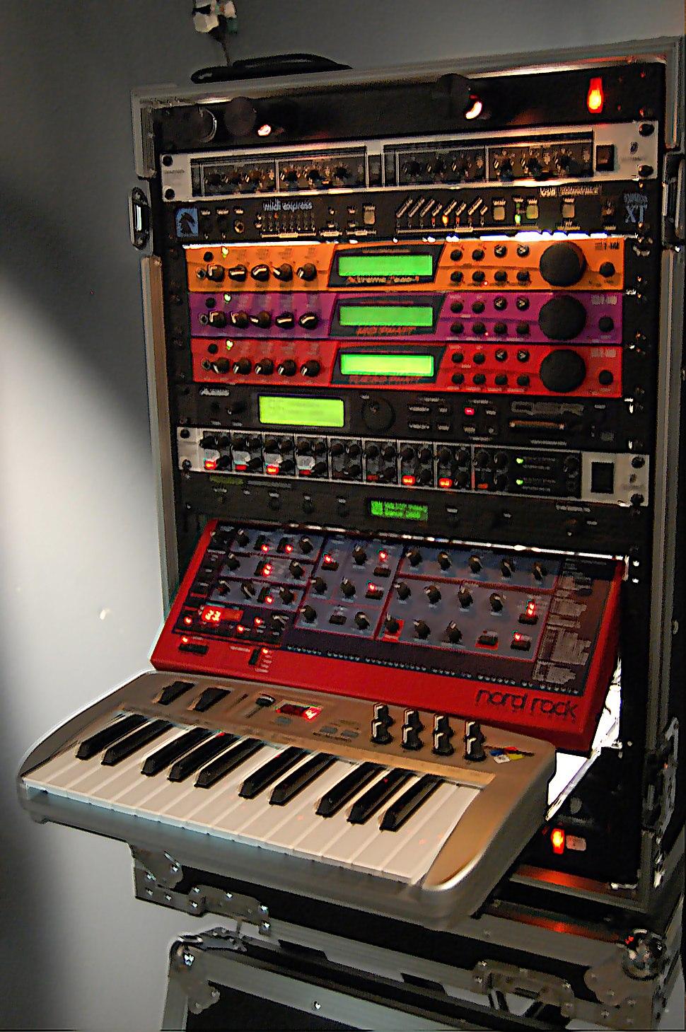 Synth rack @ Choking Sun Studio