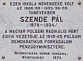 Szende Pál emléktábla, Szent István utca 17-19, 2017 Nyíregyháza.jpg