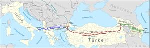 Trans-Anatolian gas pipeline - Image: TAP TANAP SCP Schah Denis
