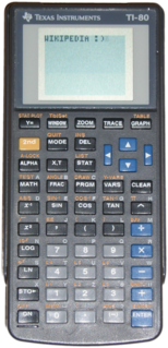 TI-80 Texas Instruments graphing calculator