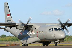 Science and technology in Indonesia - The CASA/IPTN CN-235 is a medium-range twin-engined transport plane that was jointly developed by CASA of Spain and IPTN of Indonesia as a regional airliner and military transport.