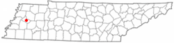 Location of Alamo, Tennessee