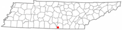 Location of Huntland, Tennessee