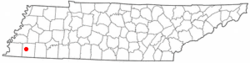 Location of Oakland, Tennessee
