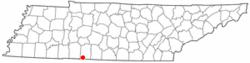 Location of St. Joseph, Tennessee
