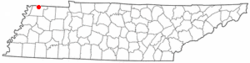 Location of Woodland Mills, Tennessee