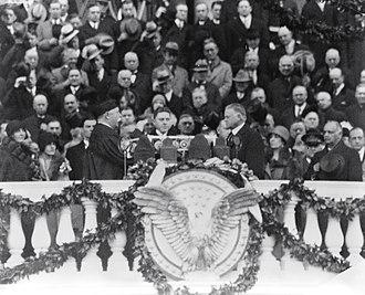 Presidency of Herbert Hoover - Inauguration of Hoover