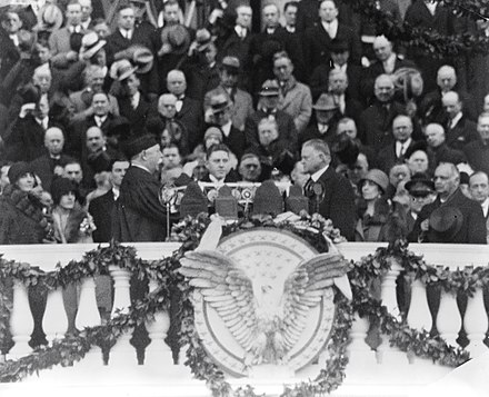 Inauguration of Hoover Taft Hebert Hoover Oath.jpg