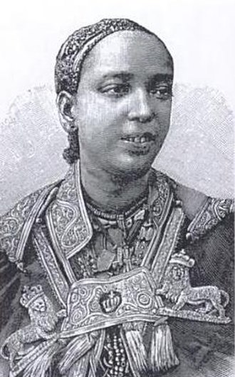 Menelik II - Taytu Betul, the third wife of Menelik.