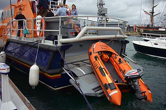 Y-class lifeboat - Image: Tamar Class Lifeboat with Y Class Showing Photo By Robert Kilpin
